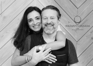 Louise Mazanti and Mike Lousada